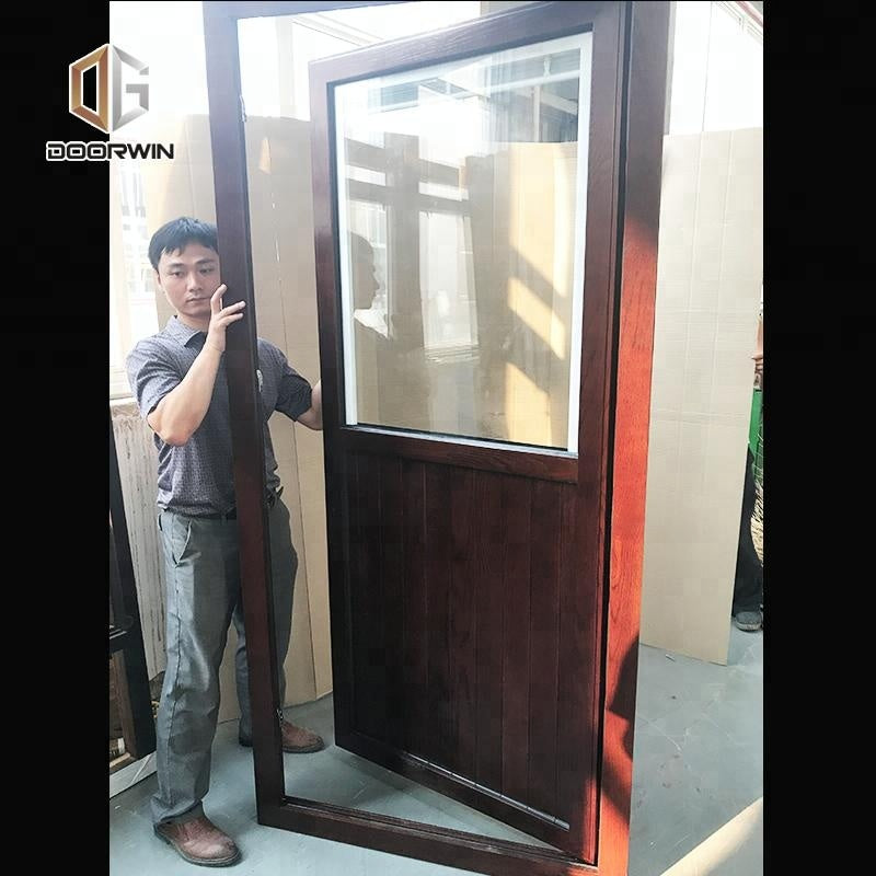 Used wood exterior doors ultra clear glass louver door timber louvers by Doorwin on Alibaba