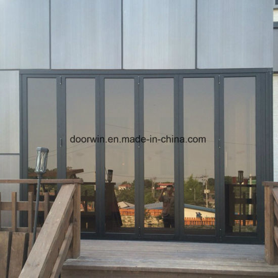 Waterproof Patio Thermal Break Aluminum Glass Folding Door - China Folding Glass Door, Pella Folding Doors