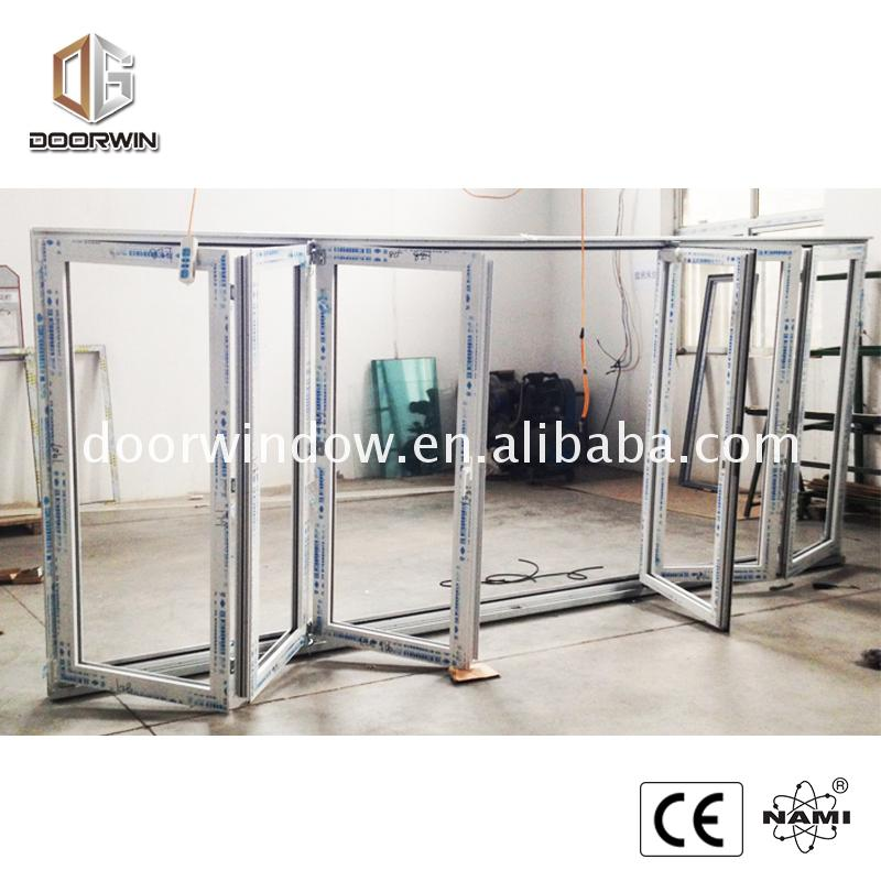 Weather proof folding door waterproof glass window and aluminum windows doors