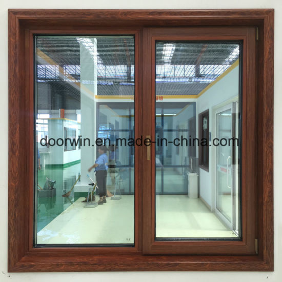Wenge Wood Clad Thermal Break Aluminum Window - China Tilt and Turn Window, Casement Window