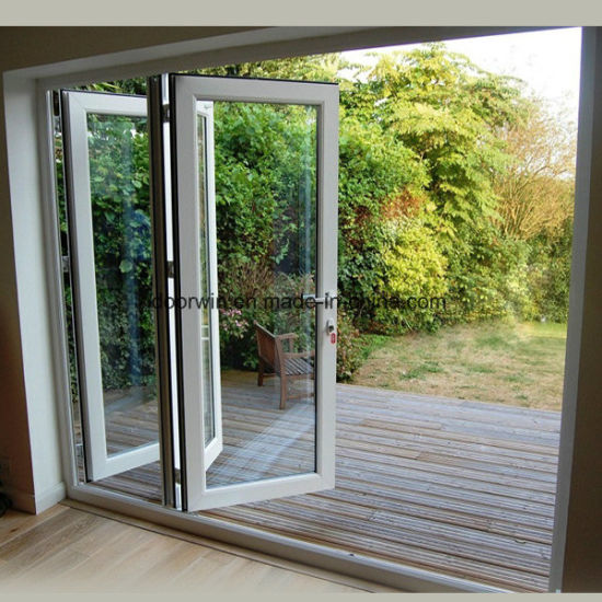 White Bi-Folding Door - China Folding Glass Door, Pella Folding Doors