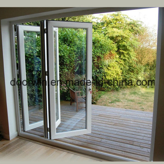 White Color Aluminum Bi Folding Door with Built-in Shutter - China Bifold Door, Bifolding Door