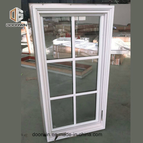 White Color Casement Window with Decorative Grid - China Crank Casement Windows, White Color Windows