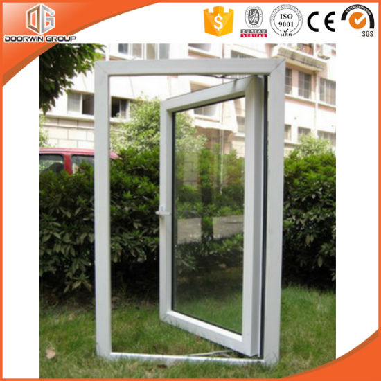 White Color PVC Casement Window with Double Glazing - China PVC Casement Window, PVC Window