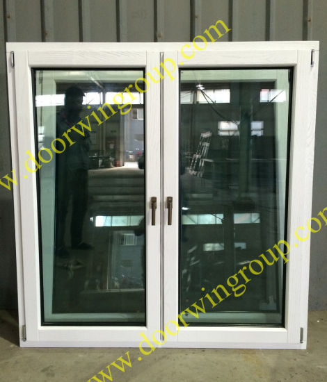 White Color Solid Timber Window, Good Heat-Insulation and Sound-Insulation Performance Solid Wood Window - China Timber Window, Timber Aluminum Window