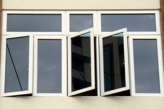 White Color Thermal Break Aluminum Window for Residential - China Glass Windows, Aluminium Window