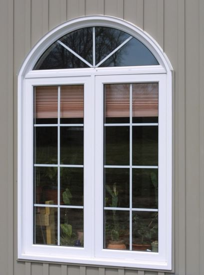 White Color UPVC Casement Window with Double Glazing - China UPVC Casement Window, UPVC Window