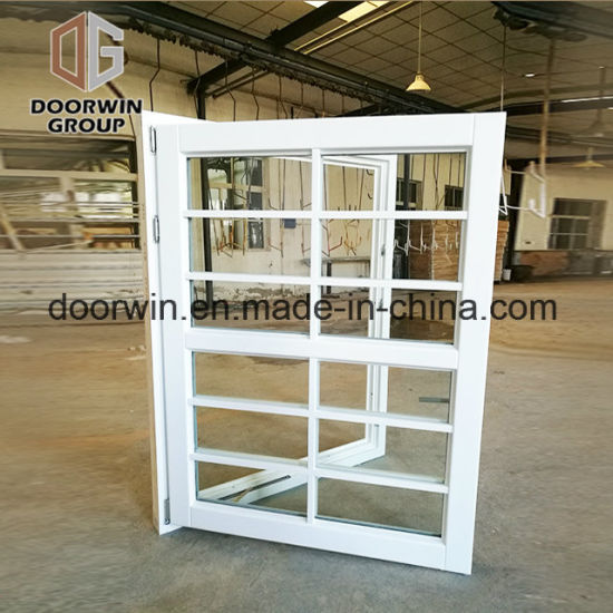White Stain Finish Color Casement Window with Decorative Grille\Images - China 3 Panels Aluminum Awning Window, As2047 Aluminum Awning Windows