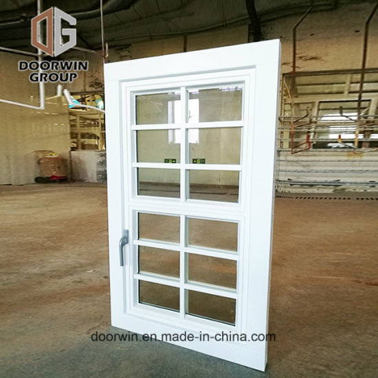 White Stain Finish Color Casement Window with Decorative Grille - China Awning, Awning  Windows