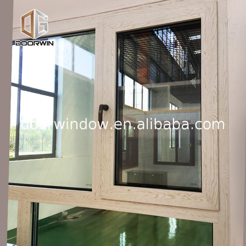 Wholesale efficient windows double pane thermal glazing casement entry inswing open style