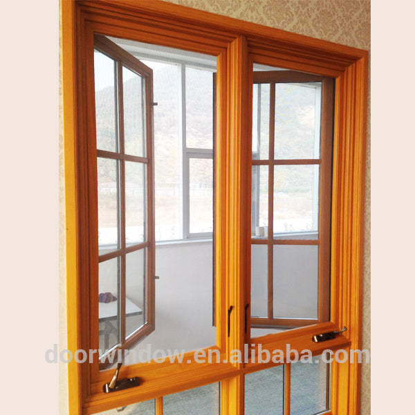 Wholesale price wood Crank Casement windows -American style casement