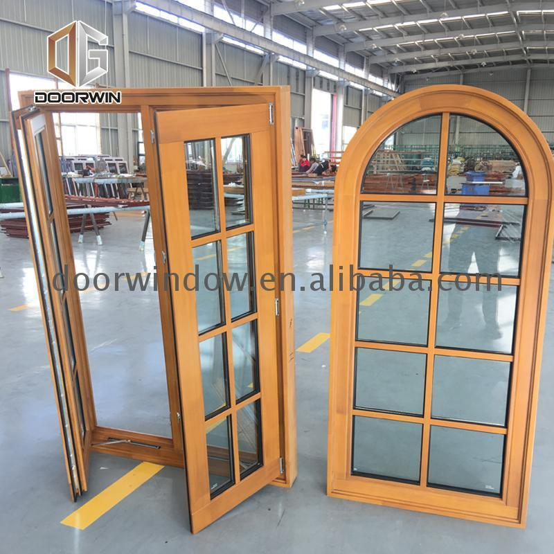 DOORWIN 2021Wholesale price eyebrow arch window double glazed windows curved glass replacement