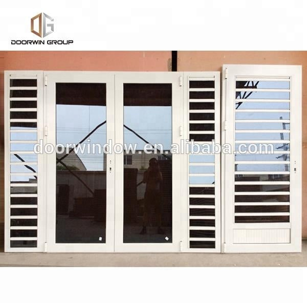 Windows with glass shutters waterproof louver ultra clear exterior door by Doorwin on Alibaba