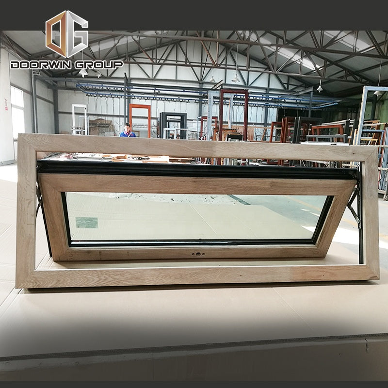 Wood Aluminium composite frame glass awning window with factory price