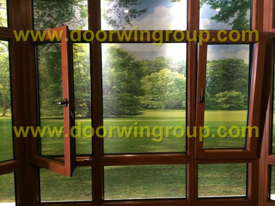 Wood Aluminum Replacement Windows, Best Quality Wood Aluminum Windows with Double Glazed Glass - China High Class Wood Alu Window, Alu Wood Window