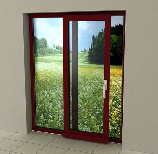 Wood Color Finishing Heat-Insulation Aluminum Sliding Door - China Sliding Door, Sliding Doors