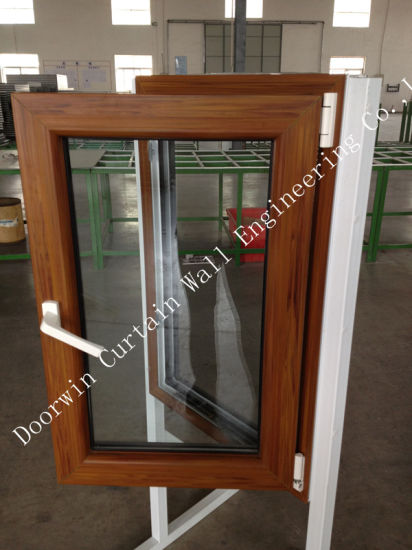 Wood Color Finishing PVC Casement Windows for Building - China PVC Casement Window, PVC Window