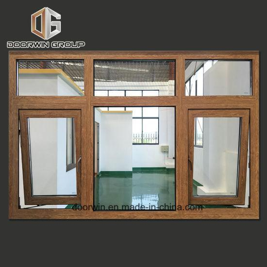 DOORWIN 2021Wood Grain Aluminum Awning Window - China Aluminium Wood Grain Window, Aluminum Frame Crank Awning Window