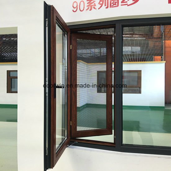 Wood Grain Color Finishing Outswing Window - China America Standard Aluminum Awning Windows, As2047 Awning Windows
