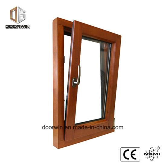DOORWIN 2021Wood Grain Color Wood Aluminum Tilt and Turn Window - China Normal Aluminum Extrusion Tilt Turn Windows, Tint Glazing Swing Window