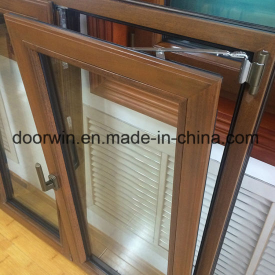 Wood Window, America California Client Teak Wood Clad Thermal Break Aluminum Casement Window - China Window, Wood Aluminum Window