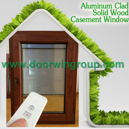 Wood Window with Aluminum Cladding, Standard European Style Aluminum Wood Window with Ce Certification - China Window, Aluminum Window
