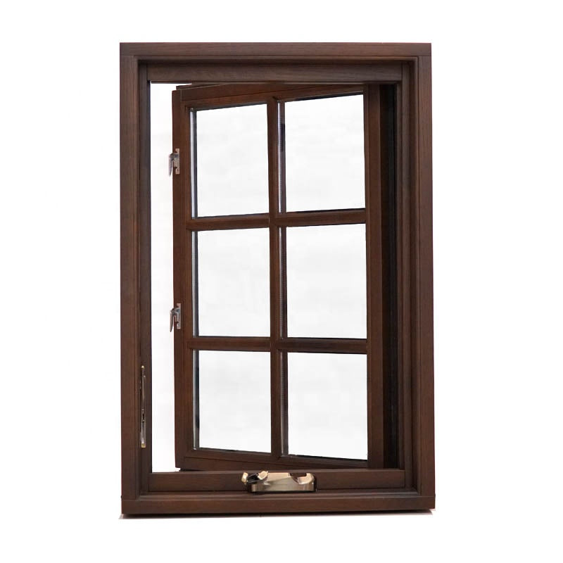 Wood casement window aluminum windows