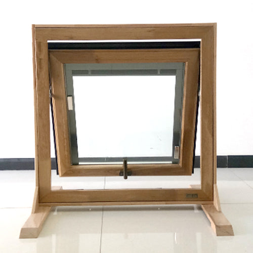 Wood clad aluminum awning window with new design