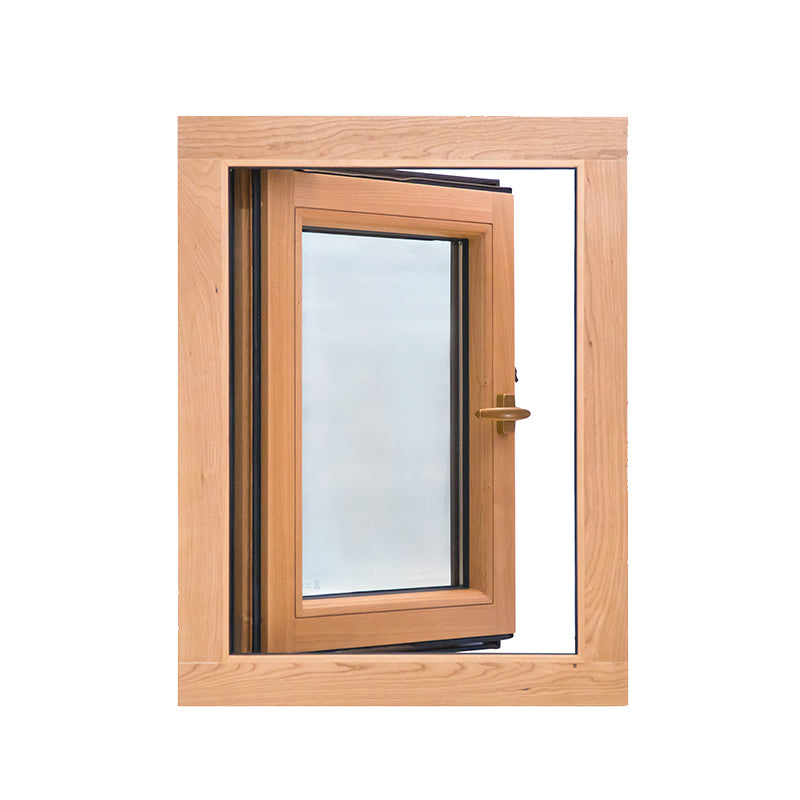 Wood grain finish aluminum window awning casementby Doorwin