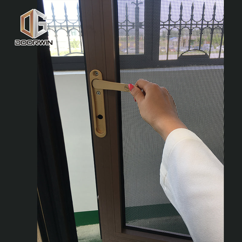 Wood grain finish aluminum window windows tilt turn by Doorwin on Alibaba