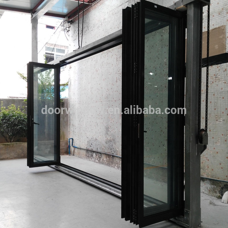 Wooden color fold door wholesale doors usa approved aluminium casement by Doorwin on Alibaba