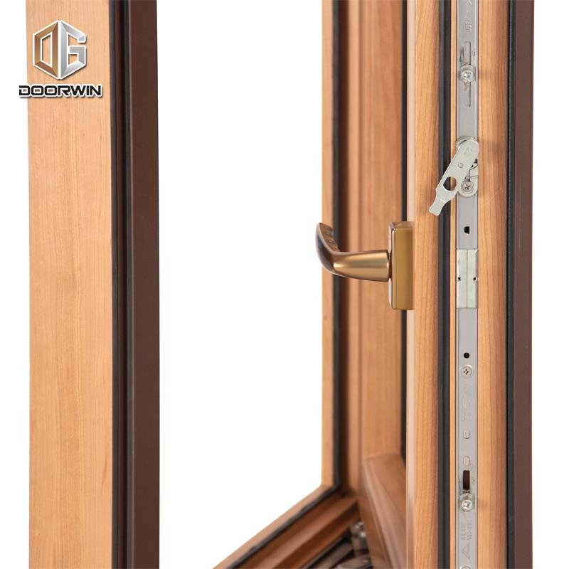 DOORWIN 2021Wooden grain swing window wood tilt and turnby Doorwin