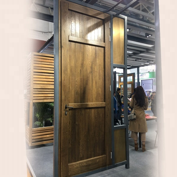 Wooden single main door design steel main door designs front by Doorwin on Alibaba