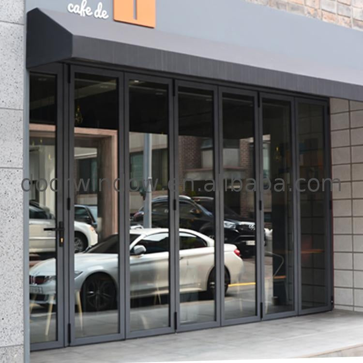 aluminium bifold door glass folding retractable glass doors by Doorwin on Alibaba