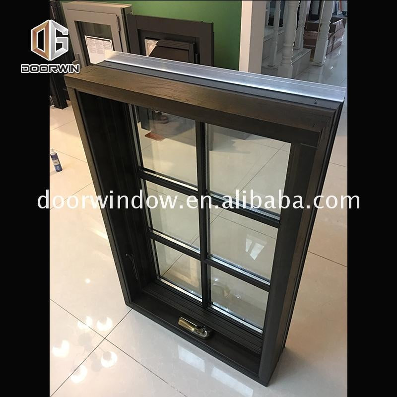 aluminium wood double glasses casement window