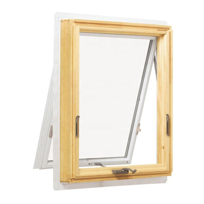 aluminum style timber soundproof crank awning window