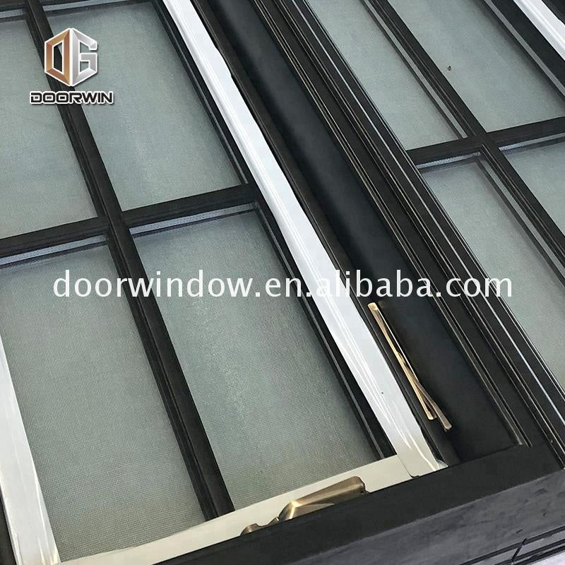 aluminum wood crank open casement window
