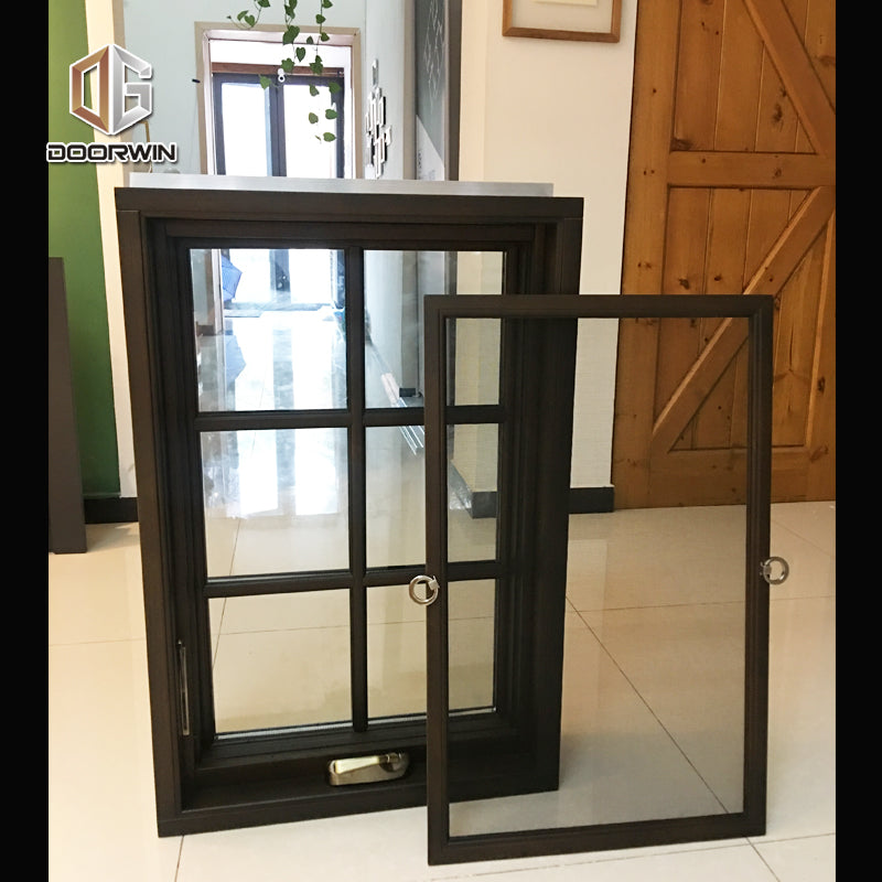 black stain color crank out open window