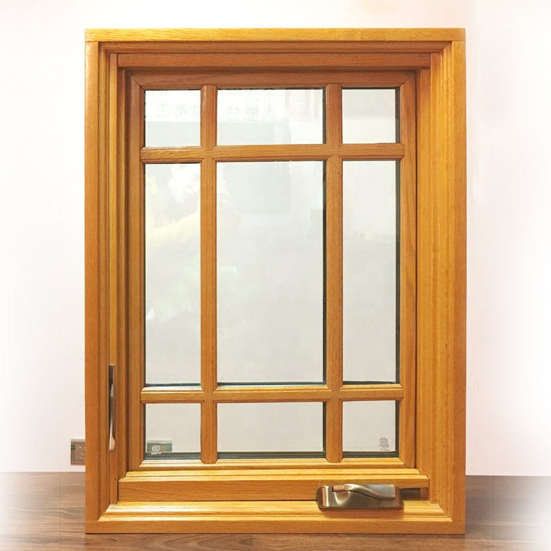 double glazed aluminum crank casement window