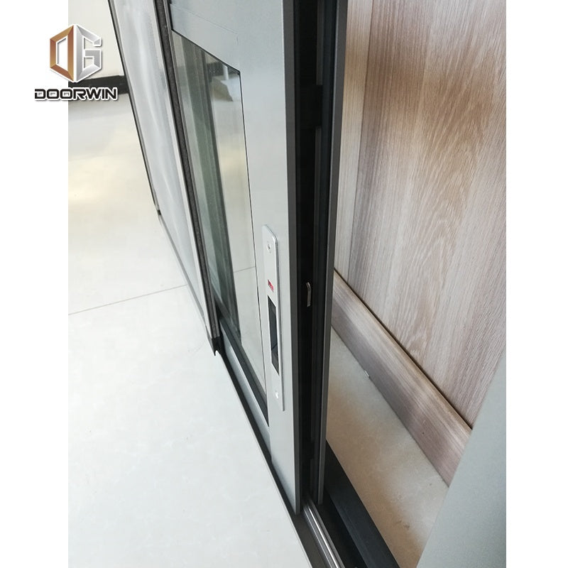 excellent sound proof aluminum profile push-pull glass sliding window
