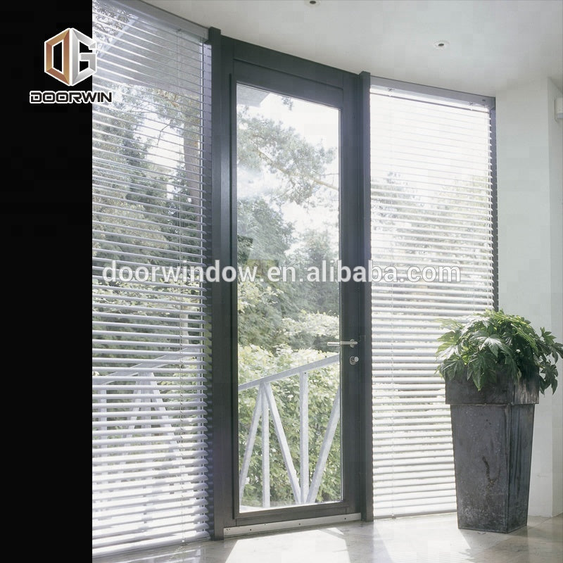 exterior glass louver door f and aluminium wood front doors by Doorwin on Alibaba