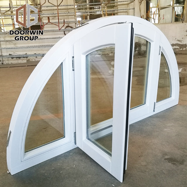 specialty shapes window-10 white stain finish color arched pine push out French window