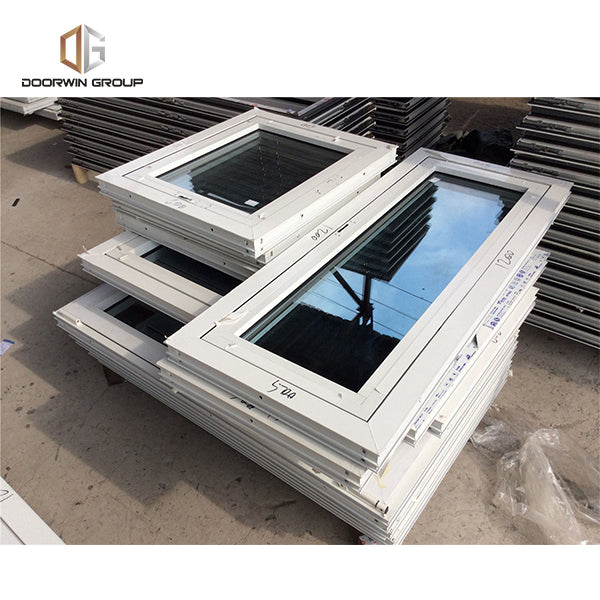 aluminum French outward opening window with reflective glass