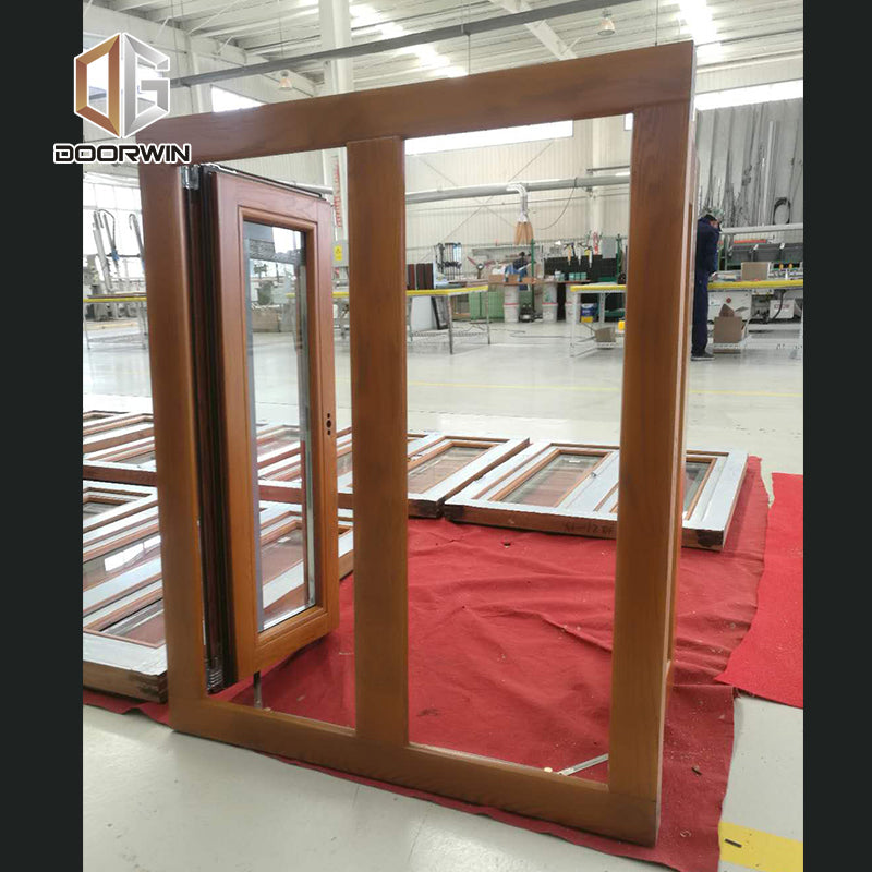 alu-clad oak wood French push out casement window