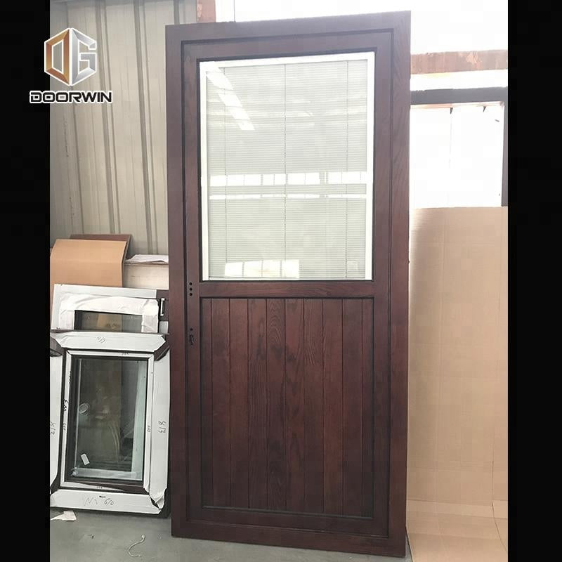 half glass interior wood doors half screen wooden door by Doorwin on Alibaba