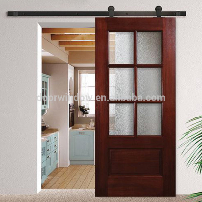 interior sliding barn doors with glass inserts by Doorwin