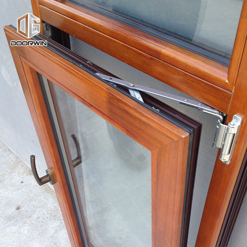 Made in China Latest Design Inside Open Aluminum Clad Wood 3 Glass Solid Wooden Tilt And Turn Casement Windows DOORWIN ELEVATE SERIES
