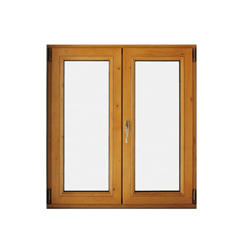 teak wood clad thermal break aluminum tilt turn window