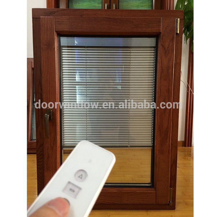 thermal break aluminum wood 3x4 tilt turn windows with built in blinds by Doorwin on Alibaba