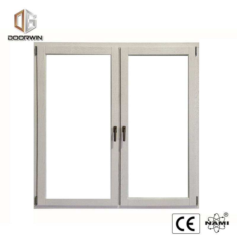 WHITE OAK WOOD TILT TURN WINDOW WITH EXTERIOR ALUMINUM CLADDING